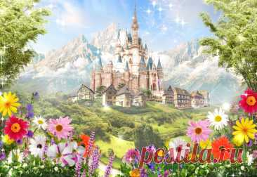 Купить фрески Сказочный замок - Арт. 15195 | Интернет-магазин Фотостена.ру