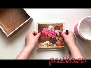 Идея шкатулки из картона своими руками