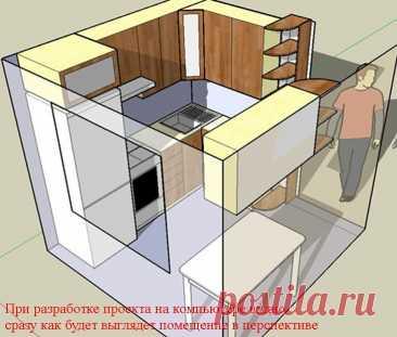 Дизайн проект 5 и 6 кв. м кухни в хрущевке своими руками   Советы Хозяевам.РФ
