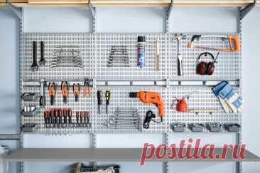 Металлический разборный стеллаж | Системы хранения Elfa для гаража и мастерской