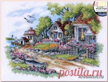 Cottages by the Sea - Дом у моря (арт. 3240 Dimensions) набор для вышивания крестом купить в Stitch и Крестик