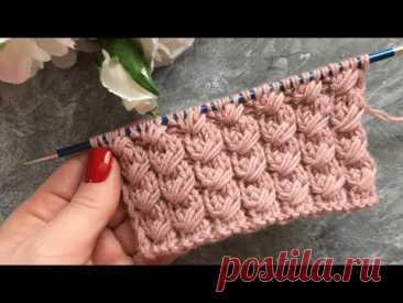 ВЕЛИКОЛЕПНЫЙ УЗОР СПИЦАМИ ДЛЯ ШАПОК, СНУДОВ, КАРДИГАНОВ!knittingpatterns