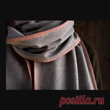 Как сшить шерстяной шарф с окантовкой: мастер-класс — Мастер-классы на BurdaStyle.ru