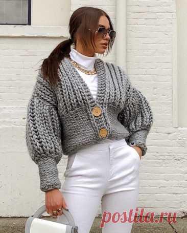 Теплые кардиганы, которые сейчас на пике моды, – невзрачными их точно не назовешь | Блог стилистки | Яндекс Дзен.Идеи.