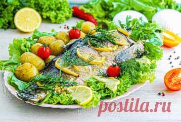 Речная рыба запеченная в духовке в фольге рецепт с фото пошагово - 1000.menu