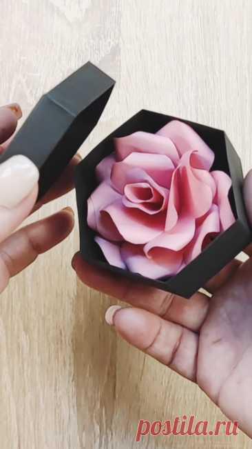 Видео мастер-класс: Подарочная шестигранная коробочка оригами своими руками
