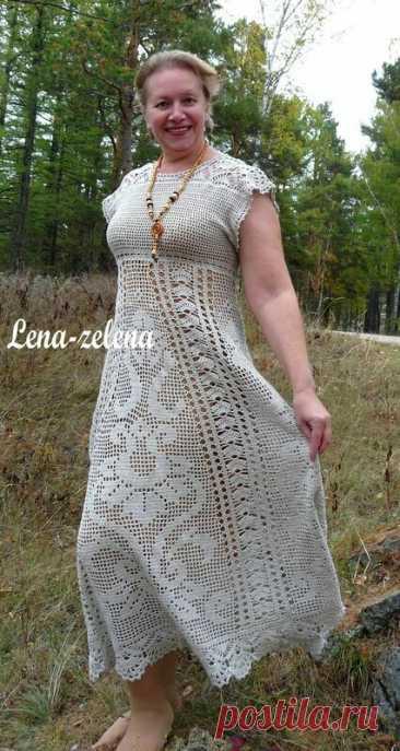 Роскошные платья крючком в филейной технике. Схемы   Вязаный Смак   Яндекс Дзен