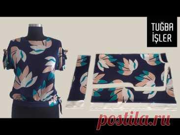 Крой и пошив блузки с завязками