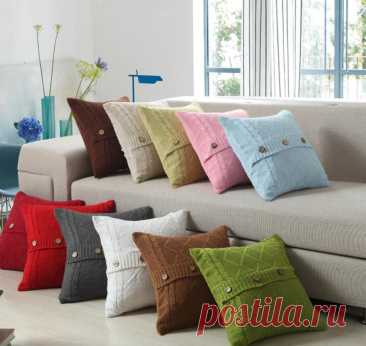 Вязаные подушки: спицами и крючком. Мастер классы для начинающих, схемы, идеи, фото — uzelok