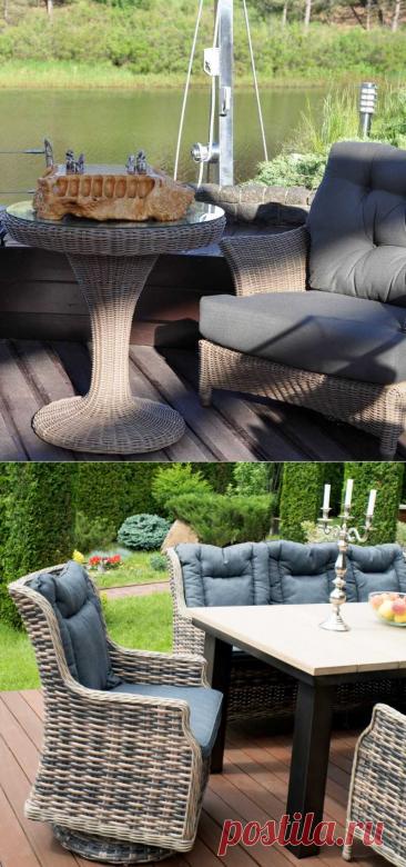 Садовая мебель из ротанга: фото, новинки, дизайн, где купить, отзывы