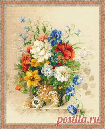 Фламандское лето (арт. 100/042 Риолис Премиум) купить в Stitch и Крестик