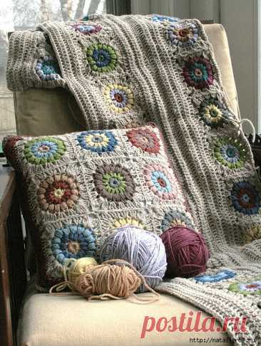 Ways of connection of grandmother's squares