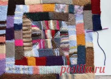 Плед-одеяло из 10 петель Интересный и практичный метод вязания использован в вязании Плед-одеяло из 10 петель. Такая техника позволяет связать одеяло из остатков разноцветной пряжи.