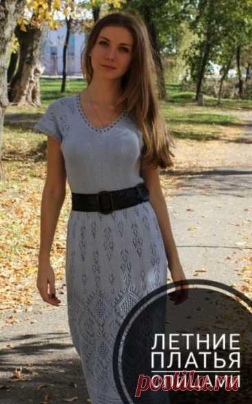 Летние платья спицами, 17 моделей платьев со схемами и описанием, Вязание для детей