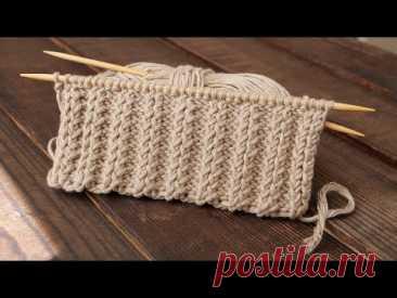 Резинка «Хлебный колос» 2/2 спицами 🌾 «Bread ear» Knitting pattern