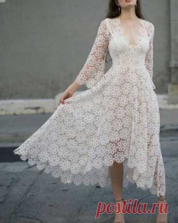 Варианты мотива крючком для платья/кофты