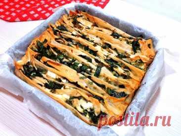 Вкуснейший пирог из теста фило и овощей.Рецепт на скорую руку. Вкусный,мягкий,сочный пирог из теста фило и овощей.Очень сытный,хорош как в теплом ,так и в холодном виде.Рецепт легкий и простой.ИНГРЕДИЕНТЫ:Тесто фило – 5 листовШпинатСыр фетаЛук – порейУкропПетрушкаСольПерецРастительное маслоДля заливки:Яйца – 2 штРастительное масло – 80 млГазированная...