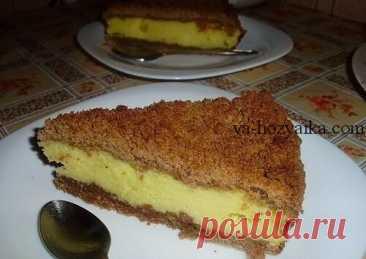 Творожный пирог из крошек рецепт. Быстрый творожный пирог