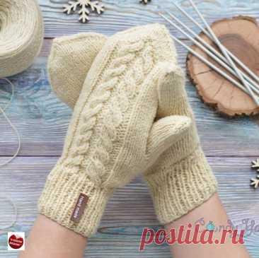 Как связать своими руками тёплые варежки