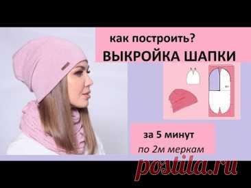 Как построить выкройку шапки за 5минут [Mirina_hm]