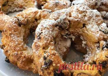 (5) Творожные колечки с изюмом😋😋😋 - пошаговый рецепт с фото. Автор рецепта Алина . - Cookpad
