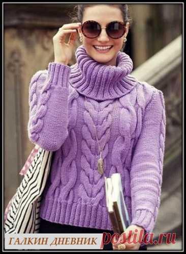 Галкин Дневник: Красивый, женский свитер спицами