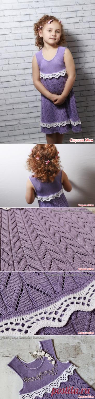 Детское платье на лето (Вязание спицами) – Журнал Вдохновение Рукодельницы