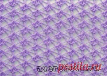 узор спицами 595 « паутинка» | каталог вязаных спицами узоров