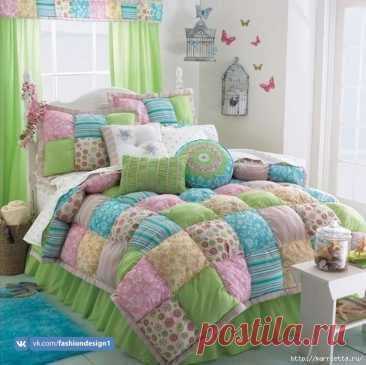 Пэчворк: теплое лоскутное одеяло — Сделай сам, идеи для творчества - DIY Ideas