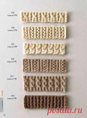 Интересные варианты обвязки края вязаного изделия. Схемы от Хитоми Шида | Сундучок с подарками | Яндекс Дзен