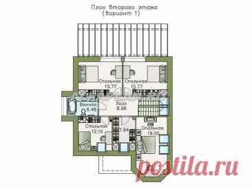 Современный загородный дом с мансардой - проект «Капелла» 596А - 188 м2, 4(5) спален | Популярные проекты домов Альфаплан | Яндекс Дзен