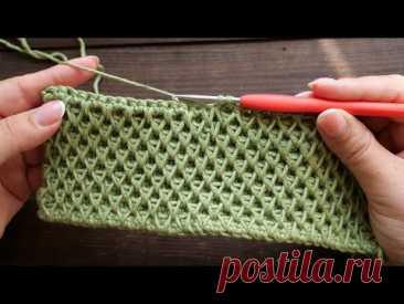 «Соты» крючком 🐝 «Honeycomb» crochet tutorial