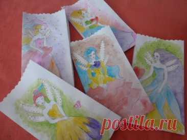 Пакетики для подарков с феями. Поделки на детский праздник.