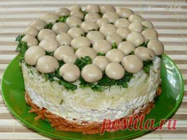 """Самое красивое и вкусное блюдо на вашем столе – Салат """"Лесная полянка"""""""