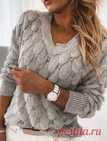 Пуловеры объемным чешуйчатым узором - 3 супер модели с описанием - Knitting.Klubok.ru.com