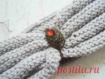 Стильная осенняя повязка на голову спицами » «Хомяк55» - всё о вязании спицами и крючком
