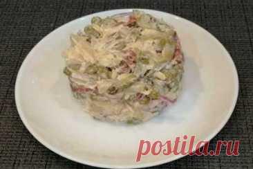 """Салат """"охотничий"""" с копченой колбасой   Вкусные кулинарные рецепты"""