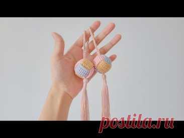 端午赠信物,钩针平安球,猴拳结交织的美好