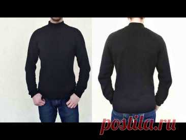 Базовый мужской свитер спицами / Реглан сверху спицами - подробные расчеты
