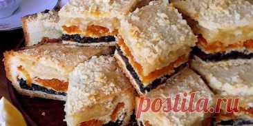 Татарский трехслойный нежный пирог
