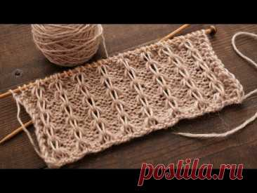 Узор «Кофейные зерна» спицами ☕ «Coffee beans» knitting pattern꧂