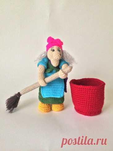 Купить баба яга в ступе ручной работы у мастера без наценок   DIY Рукоделие - Игрушки, куклы