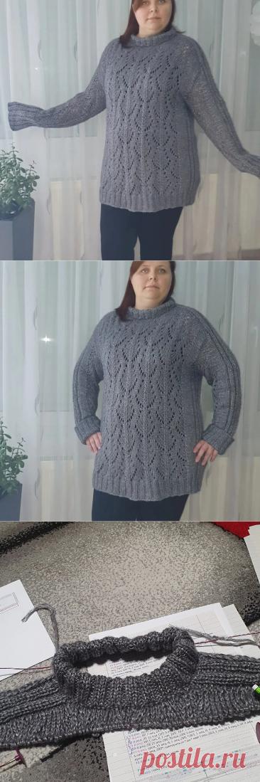 Ажурный джемпер #pinewood_sweater   Natalja Weizel   Яндекс Дзен