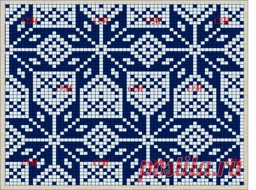 10 жаккардовых схем, составленных из узоров Роза Сельбу, взятых со старинных варежек   ЖАККАРДос   Яндекс Дзен