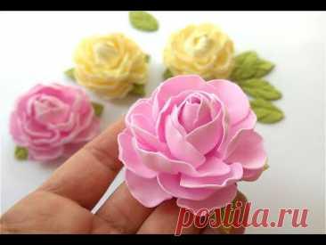 Простые Цветы Из Фоамирана Еще Один Способ Для Вас
