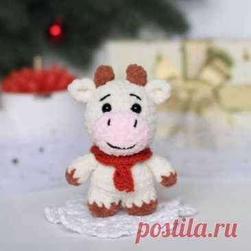 1000 схем амигуруми на русском: Крошка Муу бычок