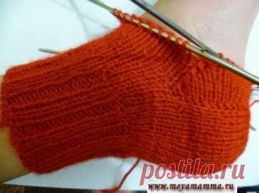 Вязание пятки носка Способы вязания пятки носка на 5 спицах Вязание пятки носка. Способы вязания пятки носков на 5 спицах. Прямая пятка носка на 5 спицах. Подробные инструкции с фото.