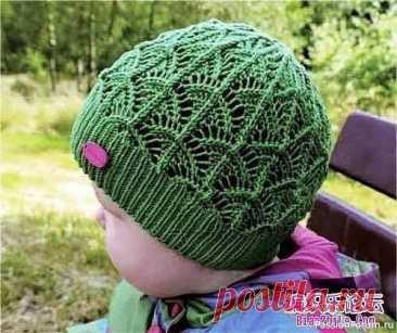 Детская весенняя шапочка | Вязание спицами для детей
