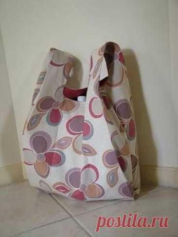 Сумка-пакет из ткани своими руками. Наипростейшая выкройка! — SamantaWay