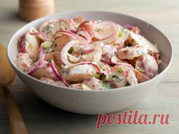 Картофельный салат с перцем чипотле